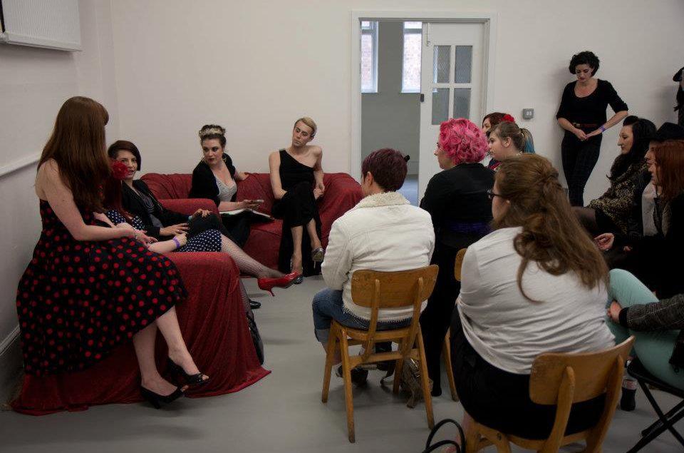 The feminism & burlesque session at BurlyCamp
