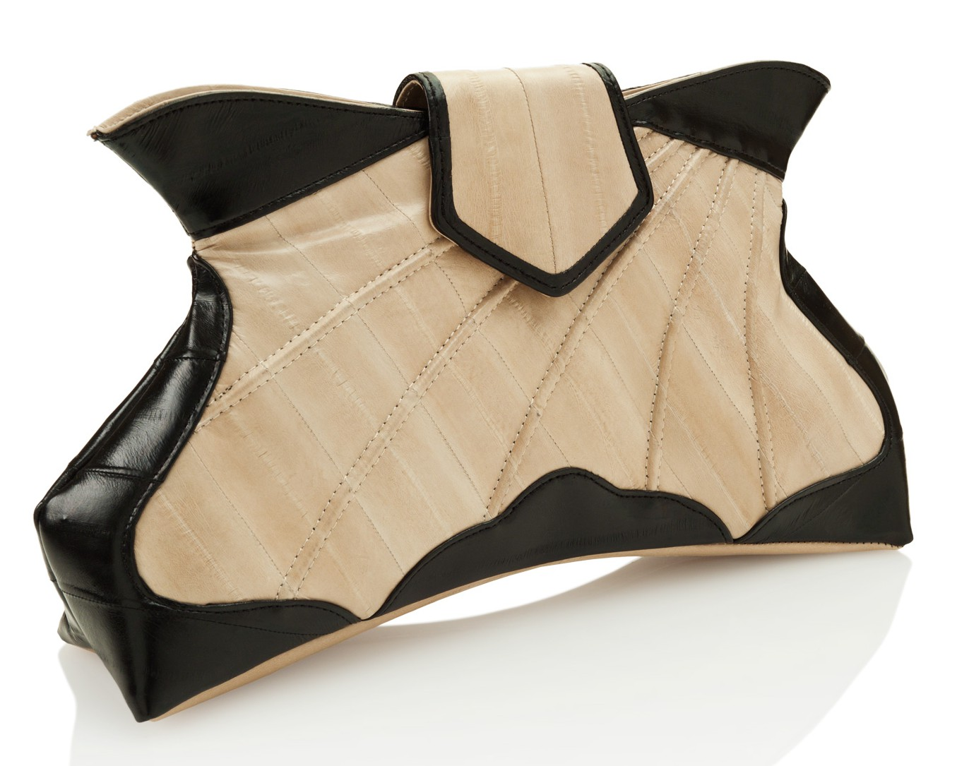 'Butterfly Fever' eel skin clutch by Makki
