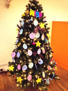 The Xmas tree in the What I See Project offices