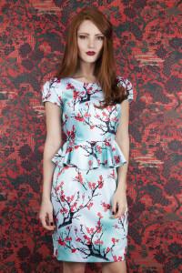 Whistle & Wolf Blossom Print Peplum Dress