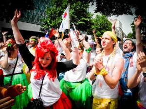 Irreverent Dancers in the LGBTQ Pride Parade, London 2014