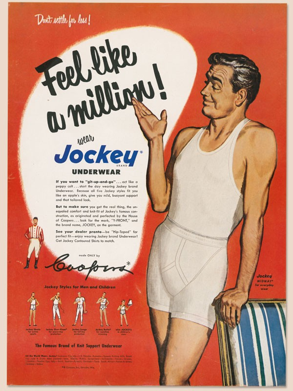 A 1950s advert for Jockey Y-fronts