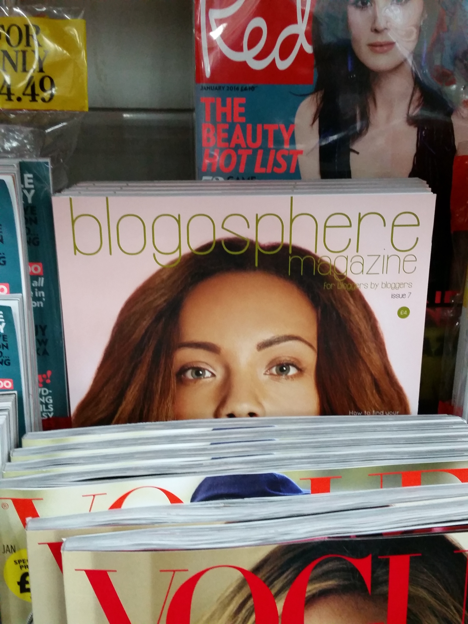 Blogosphere magazine on display in WH Smith. Photo by lipsticklori