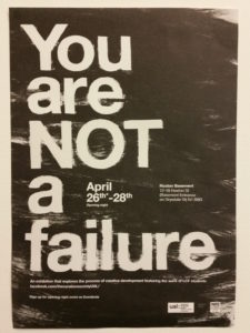 Poster for an exhibition by the UAL Curation Society
