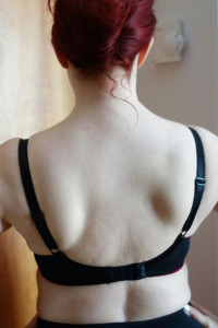 A bra with a well-fitting back band