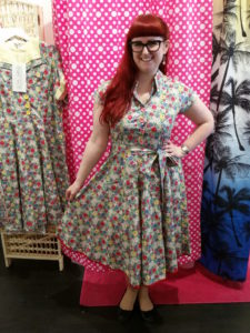 Lori wearing the Love ur Look Red Floral Day Dress