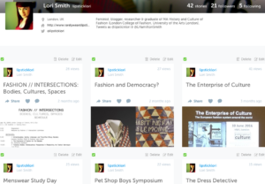 Lori's profile on Storify