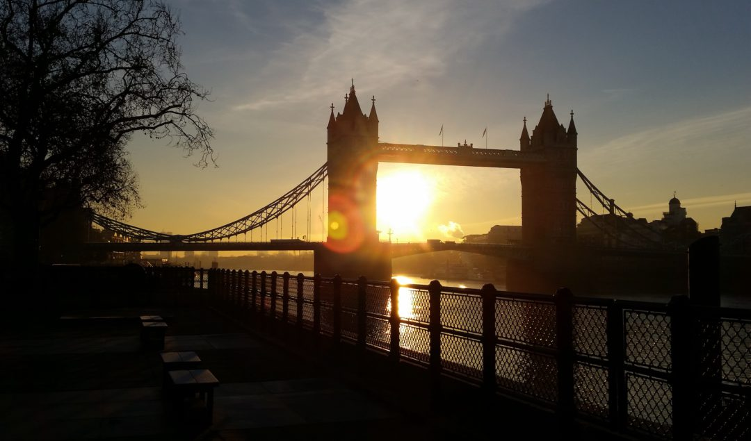 Tower Bridge at sunrise. © 2016 LHSmith
