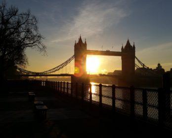 Tower Bridge at sunrise. © 2016 LHSmith