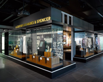 Exhibition inside the M&S Company Archive. Image by Cloud9