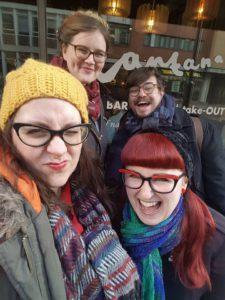Brunch Club selfie outside Lantana