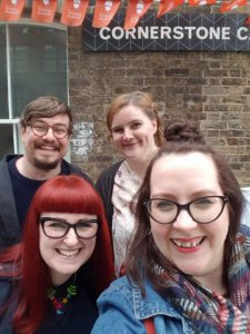 Brunch Club selfie outside the Cornerstone Café in Woolwich