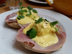 Eggs Benedict at the Cornerstone Café