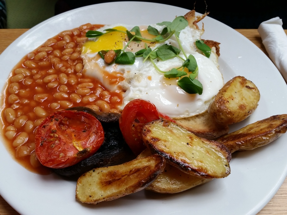 Ed's veggie fry up at the Cornerstone Café in Woolwich