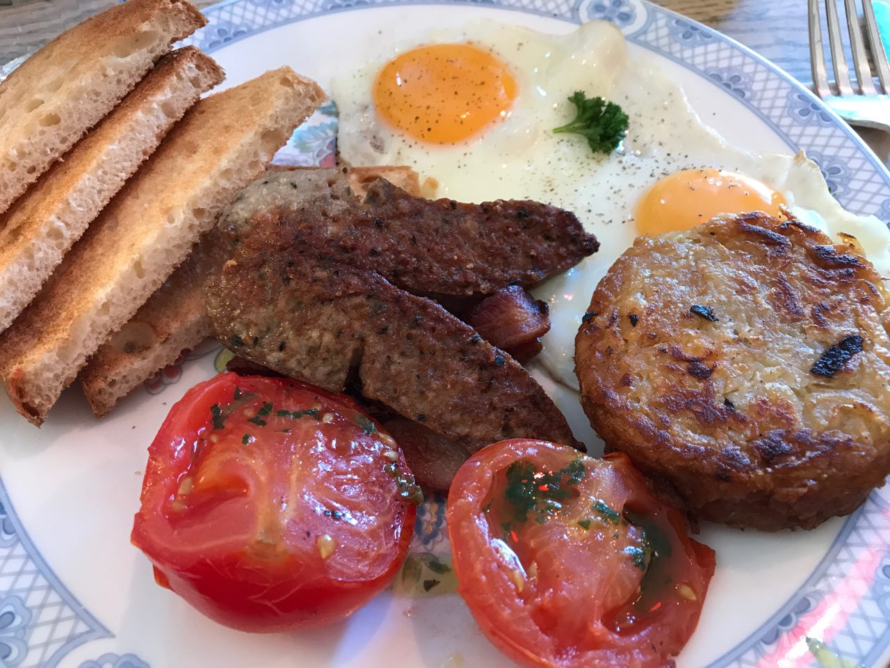 English breakfast at The Haberdashery
