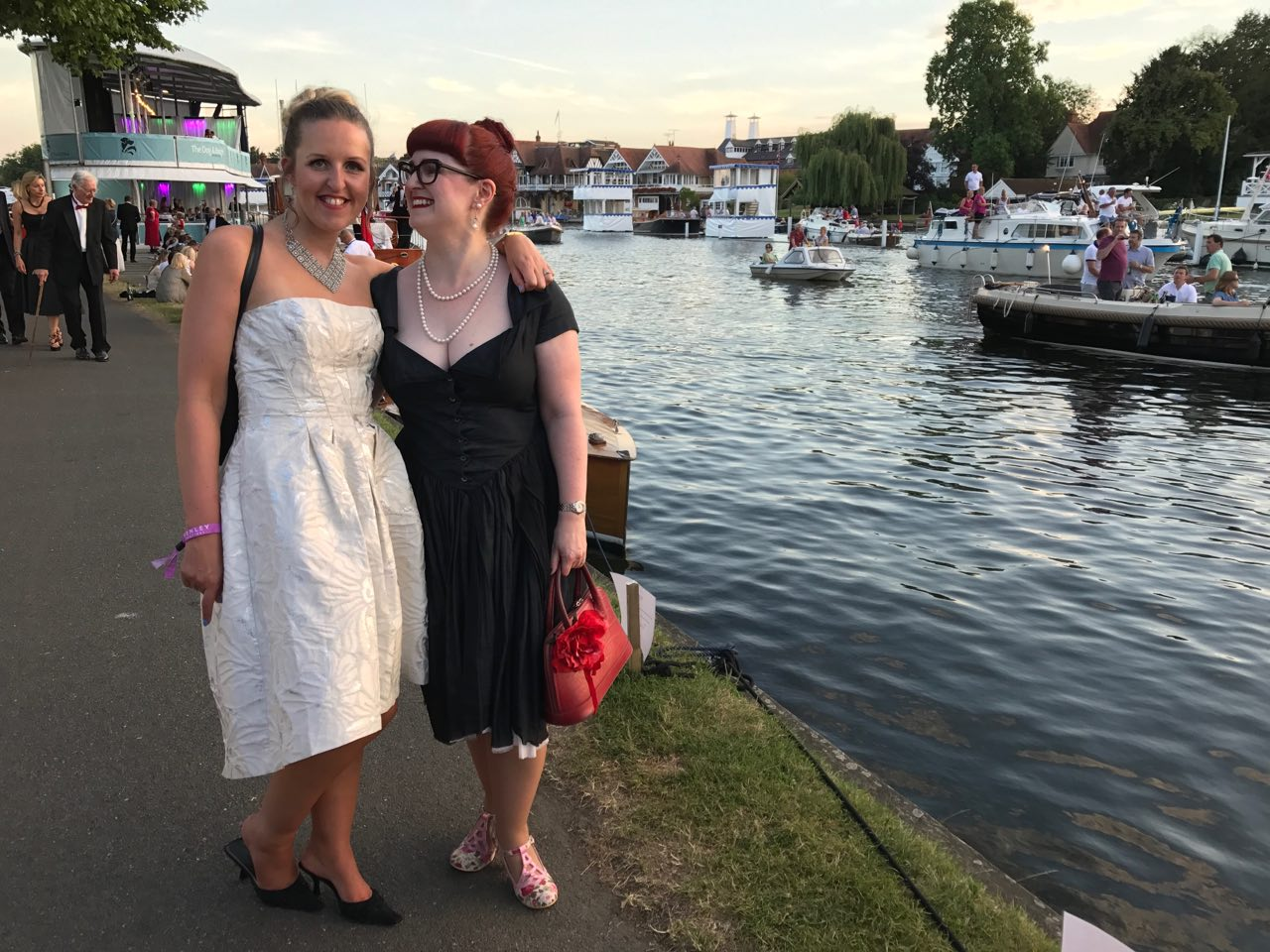 Lori & Fi on the riverside at Henley Festival