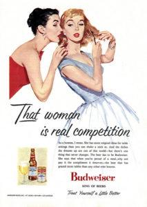 Budweiser advertisement from 1956, via clotho98's Flickr photostream
