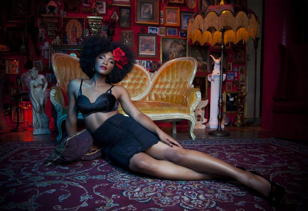 The Lingerie Addict modelling for Bettie Page Lingerie, by Playful Promises