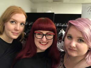 Lori with Zoë Greening and Becky Mount at Dessous London