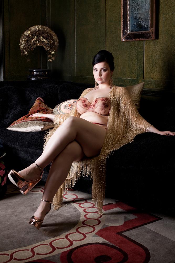 Juliette lingerie and Cassiopieia kimono by Harlow & Fox SS18
