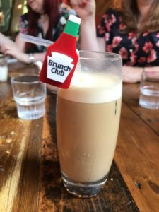 Eleanor's iced latte at Leadbelly's