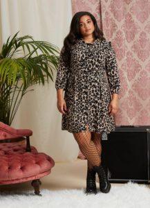 Joanie 'corey' leopard print dress