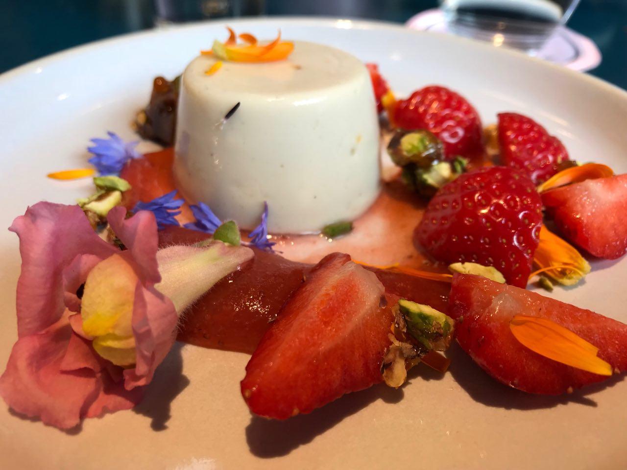 Lori's beautiful fruity dessert at The Good Egg