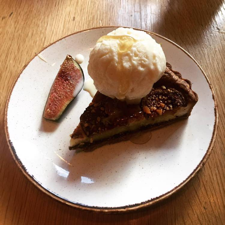 Ed's brazil nut and fig rye tart at Caravan
